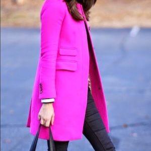Bright pink J.crew coat